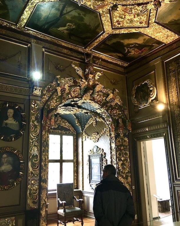 Schloss Burgk Thüringen Saale-Orla-Kreis Museum Prunkzimmer Fensternische