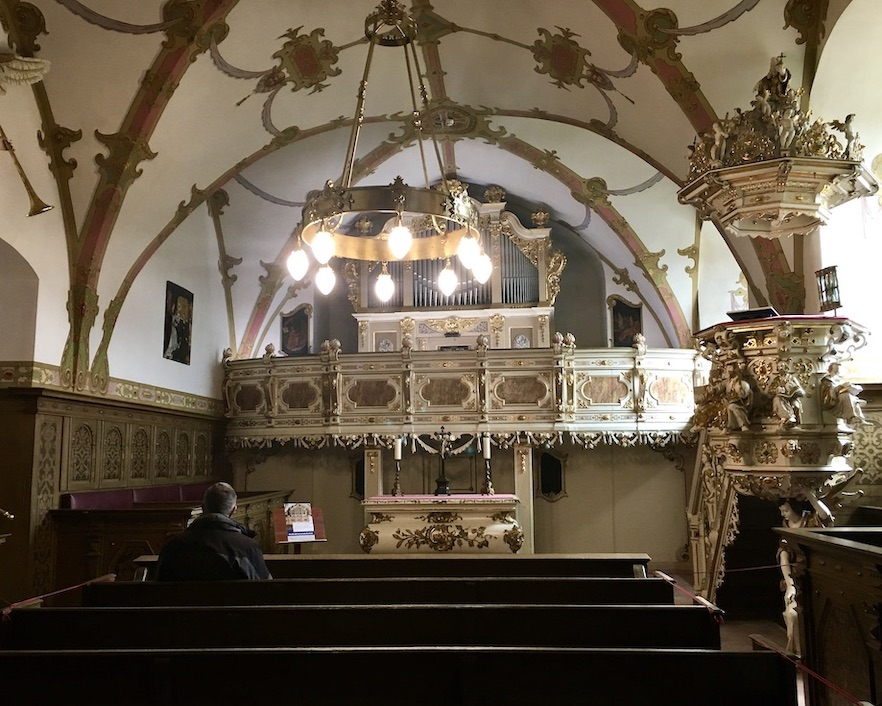 Schloss Burgk Thüringen Saale-Orla-Kreis Museum Schlosskapelle Altar und Kanzel