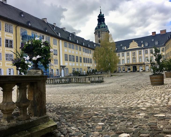 Schloss Heidecksburg Westflügl mit Schlossturm Rudolstadt Thüringen