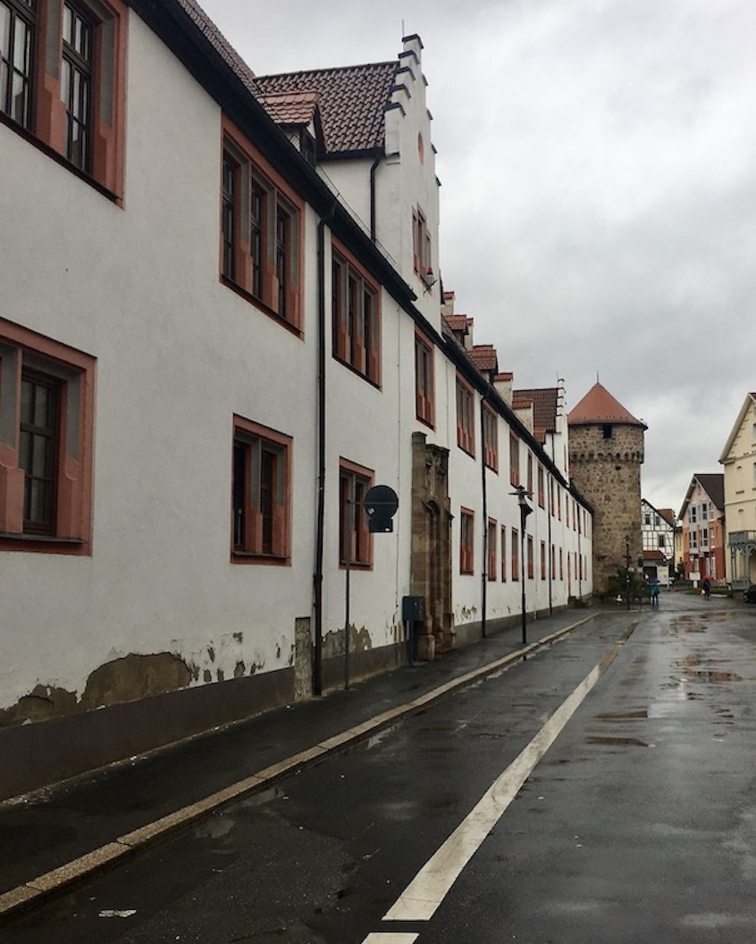 Schmalkalden Thüringen Ehemaligeer Marstall mit Pulverturm
