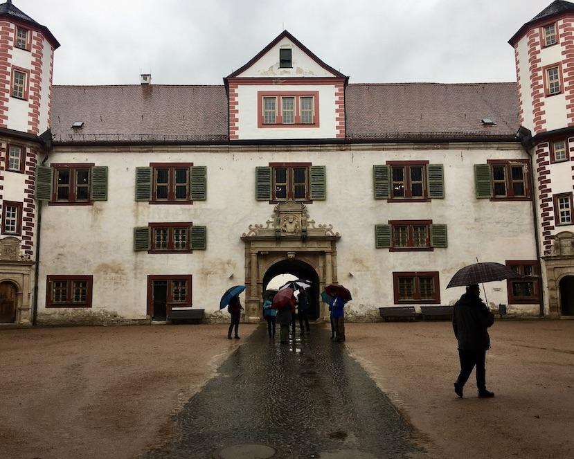 Schmalkalden Thüringen Schloss Wilhelmsburg Burghof