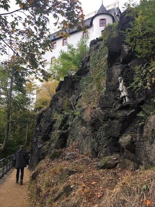 Schwarzenberg:Erzgeb. Aufstieg zum Schloß Schwarzenberg
