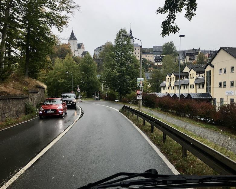 Schwarzenberg:Erzgeb. Blick auf Schloß Schwarzenberg