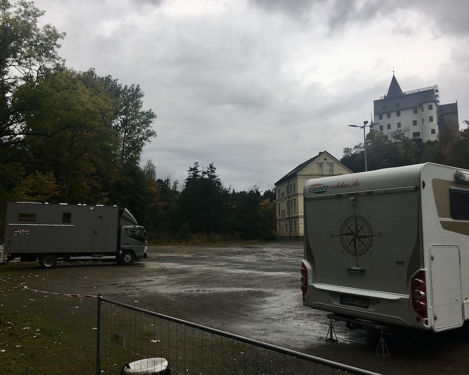 Schwarzenberg:Erzgeb. Ersatz-Wohnmobil-Stellplatz während der Bauzeit