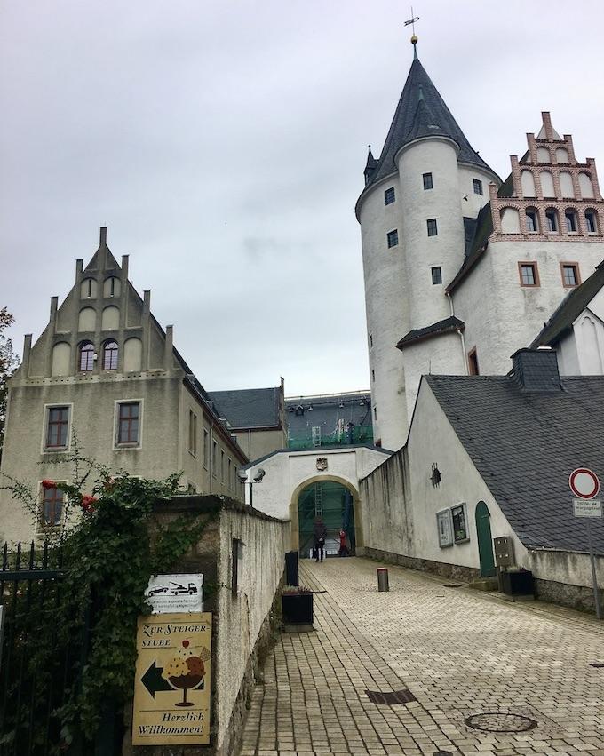 Schwarzenberg:Erzgeb. Schloss Schwarzenberg Tor und Bergfried