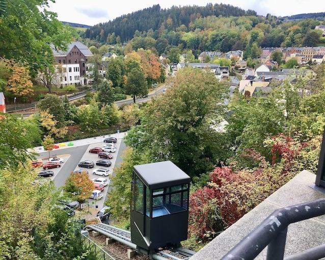 Schwarzenberg:Erzgeb. Schrägaufzug zum Schloss Schwarzenberg