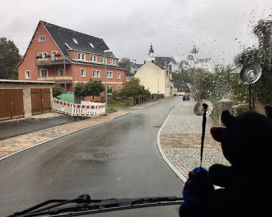 Schwarzenberg:Erzgeb. Zufahrt zum Wohnmobil-Stellplatz