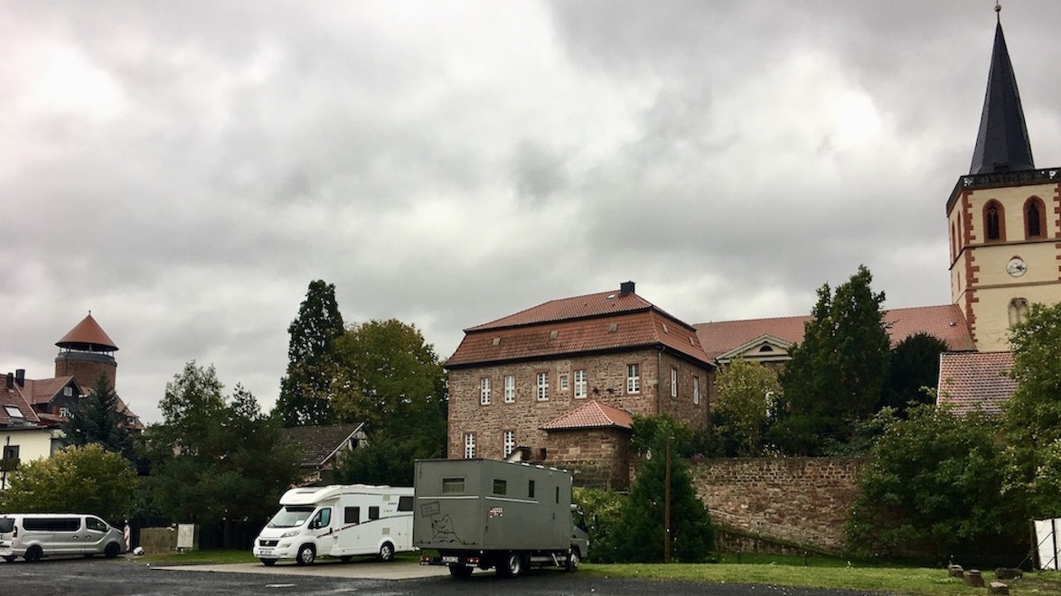 Vacha Thüringen Werrabrücke Burgturm von Burg-Wendelstein Vacha Johanneskirche