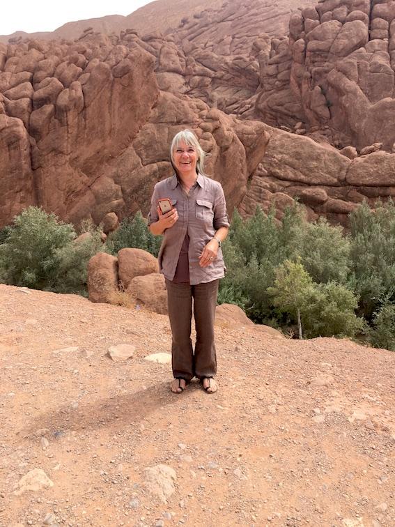 Dades-Tal Felsformation Pattes Des Singes rote Felsformation Dades-Schlucht Gorges-du-Dades Marokko