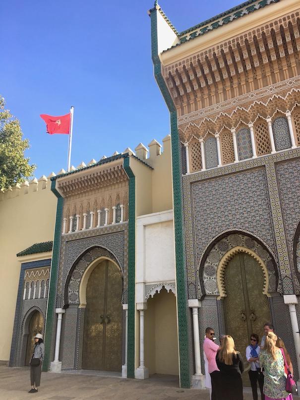 Meknes Dar El-Makhzen Eingang Meknes Königspalast Ville Impériale Marokko