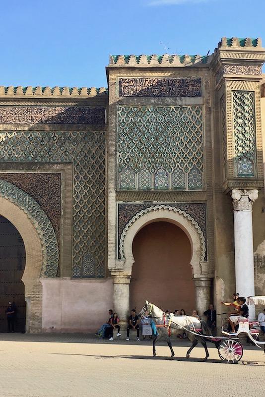Meknes Torbau Bab el Mansour Highlight Ville Impériale UNESCO-Weltkulturerbe Marokko