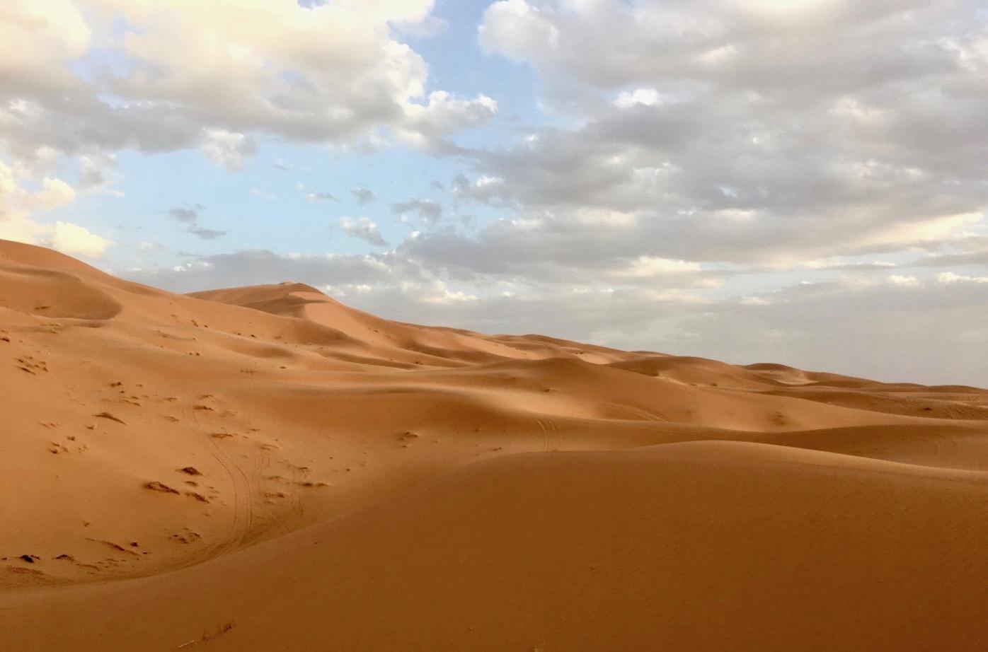 Merzouga Duenen Erg-Chebbi Sahara-Wueste Marokko