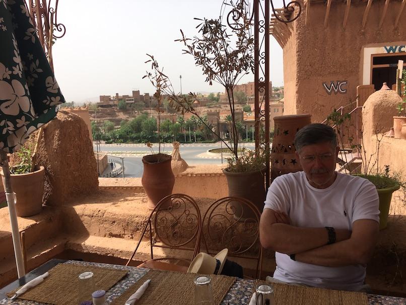Ouarzazate Blick zur Kasbah Taourirt Marokko