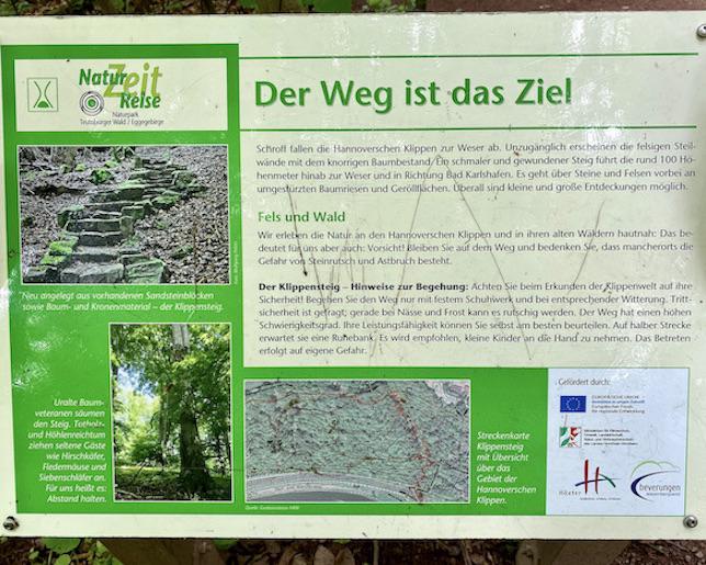 Bad Karlshafen Klippensteig Hinweistafel