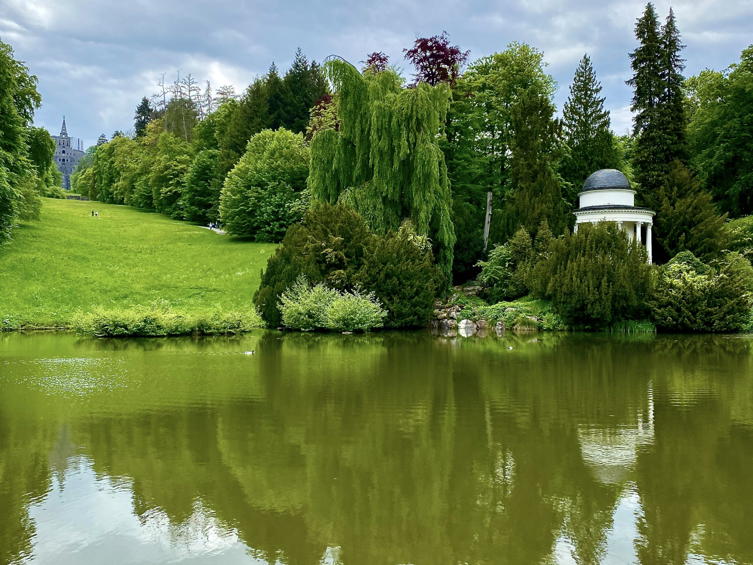 Bergpark Wilhelmshöhe Apollotempel am Fontänenteich Herkules-Denkmal UNESCO-Weltkulturerbe Kassel Hessen