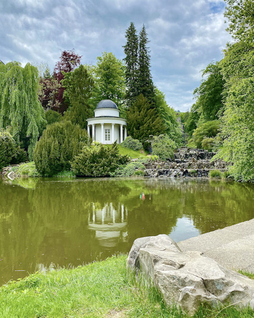 Bergpark Wilhelmshöhe Apollotempel am Fontänenteich Lac UNESCO-Weltkulturerbe Kassel Hessen