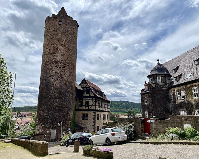 Burgenstadt Schlitz Bergfried Der Hinterturm Schlitz Hessen