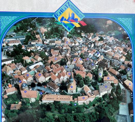 Burgenstadt Schlitz Luftbild der Burgen Altstadt Schlitz Hessen