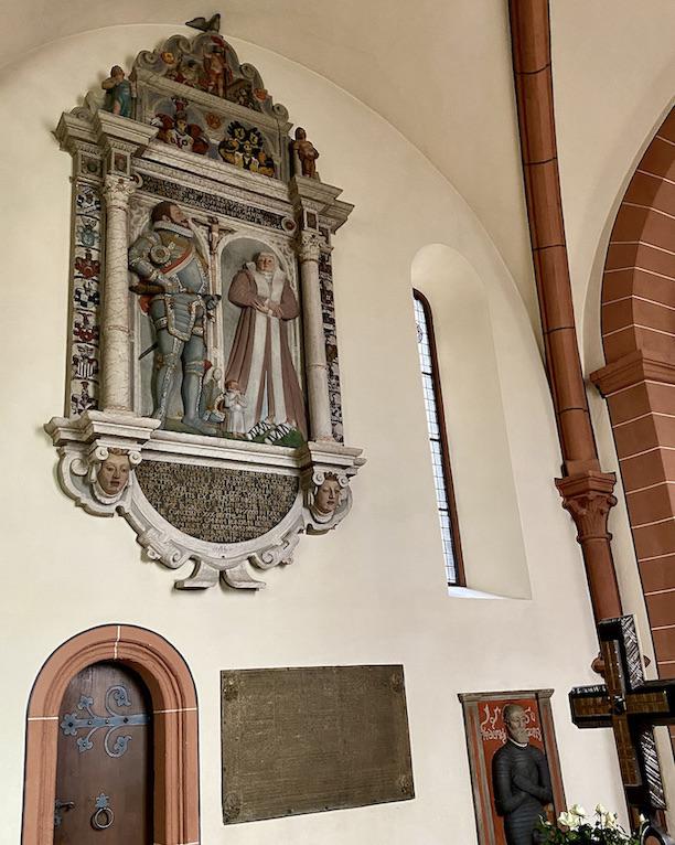 Burgenstadt Schlitz Stadtkirche Wand-Epitaphien Grabinschrift