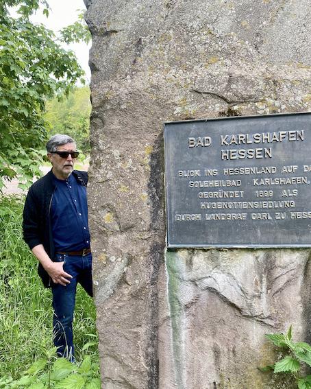Dreiländereck Bad Karlshafen historischer Geländepunkt und Grenzstein