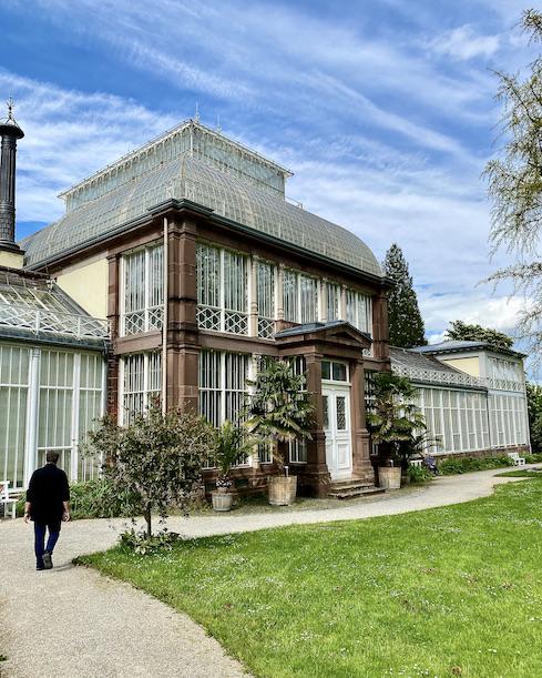 Großes Gewächshaus bei Schloß Wilhelmshöhe Bergpark Wilhelmshöhe UNESCO-Weltkulturerbe Kassel Hessen