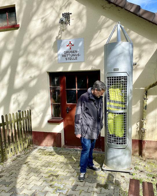 Grube Fortuna Solms Besucherbergwerk Geoinformationszentrum Museum Grubenrettungsstelle