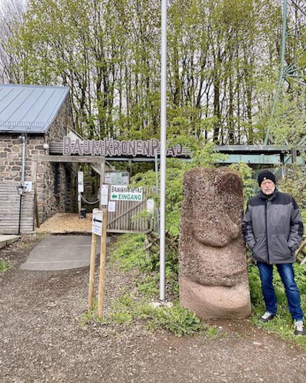 Hoherodskopf Erlebnisberg Vogelsberg Eingang zum Baumkronenpfad
