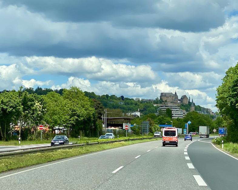 Landgrafenschloß hoch über der Lahn Marburg an der Lahn Deutschland