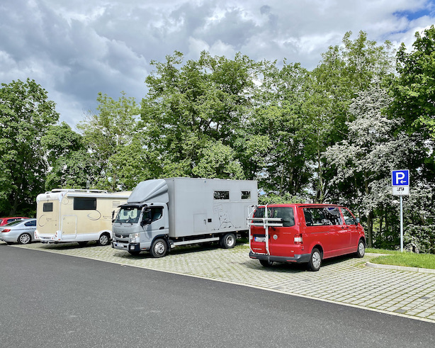 Wohnmobil-Stellplatz am Bergpark Wilhelmshöhe für mole-on-tour Kassel Hessen Deutschland