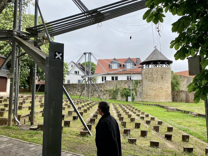 Korbach Freilichtbühne Überdachung des Zuschauerraumes Historische Altstadt Korbach Jüngste Hansestadt Deutschlands in Hessen