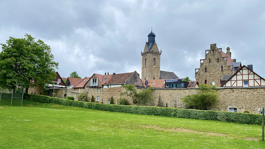 Korbach Gotisches Lagerhaus neben St.Kilian Jüngste Hansestadt Deutschlands in Hessen