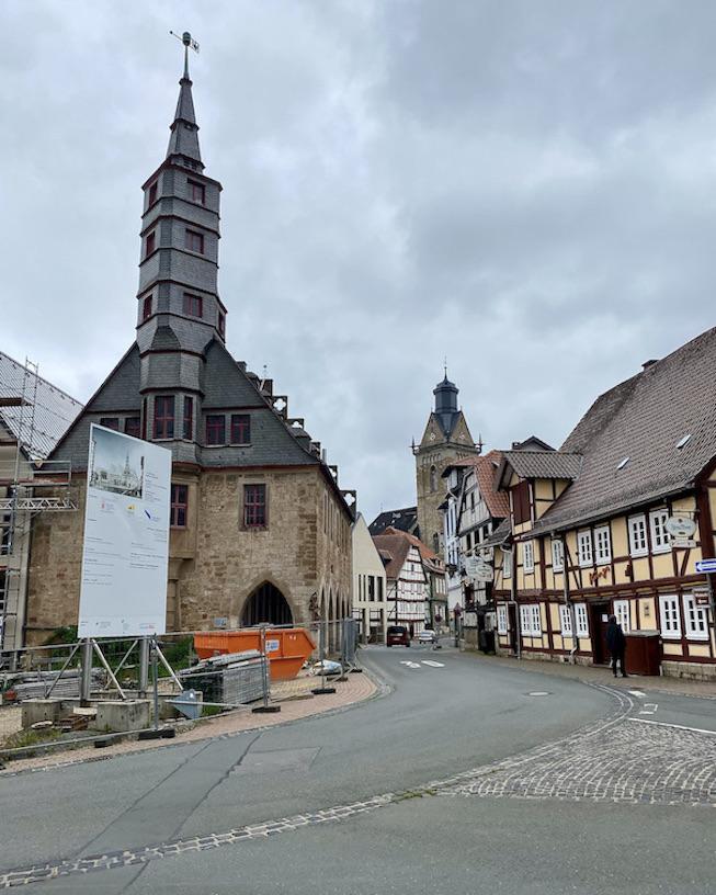 Korbach Jüngste Hansestadt Deutschlands in Hessen Rathaus Historische Altstadt