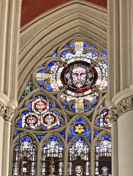 Verden an der Aller Altstadt Dom St.Maria und Cäcilia Hallenchor mit Altar Chorfenster