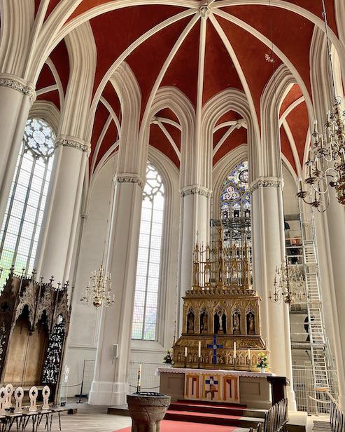Verden an der Aller Altstadt Dom St.Maria und Cäcilia Hallenchor mit Altar