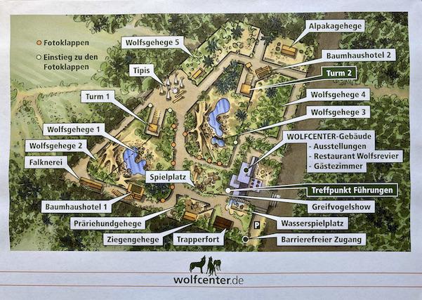 Wolfcenter Dörverden Lageplan zur Orientierung