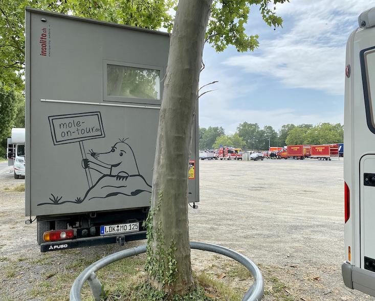 Aschaffenburg Wohnmobilstellplatz auf dem Volksfestplatz mit mole-on-tour