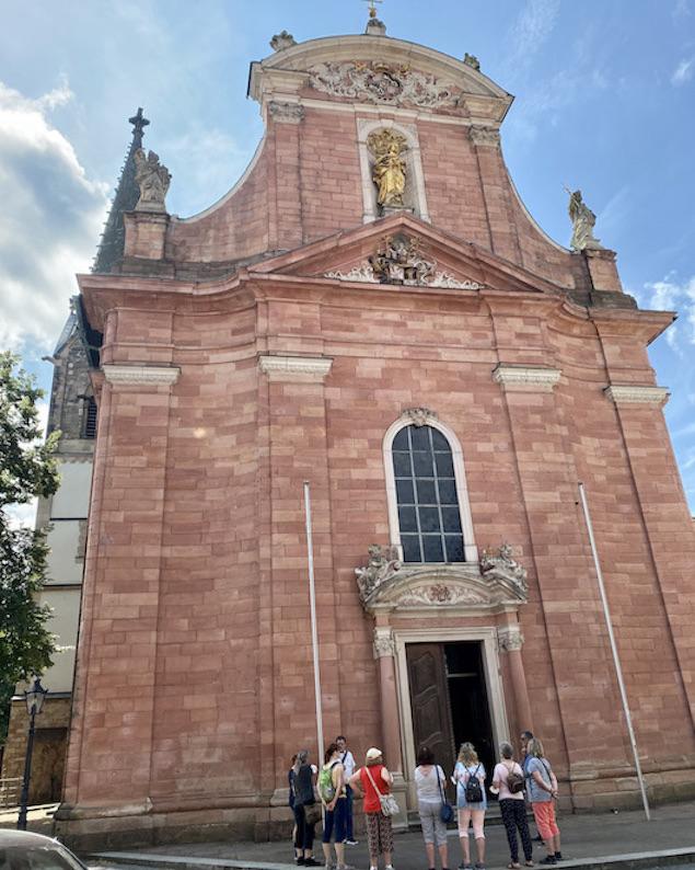 Aschaffenburg Zu unserer lieben Frau Barockfassade Kath.Kirche Muttergottespfarrkirche