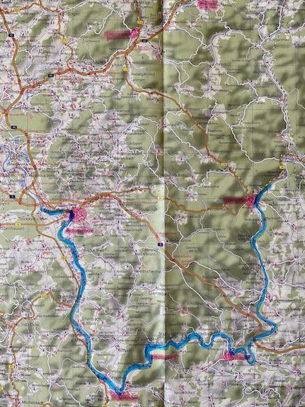 Karte vom Mainviereck am Spessart Die Urlaubsregion