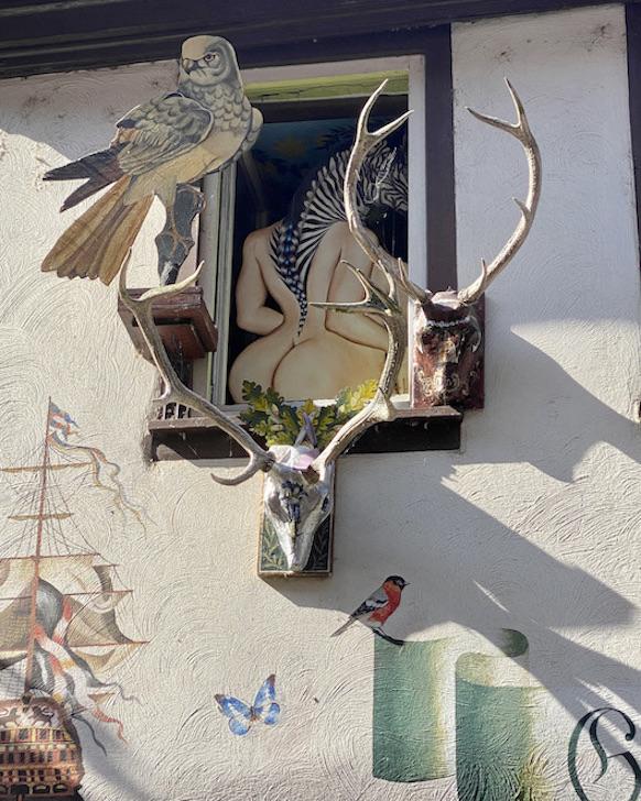 Miltenberg am Main Deutschland historische Altstadt Guntrams Maler Arche Detail 2 Sehenswürdigkeiten