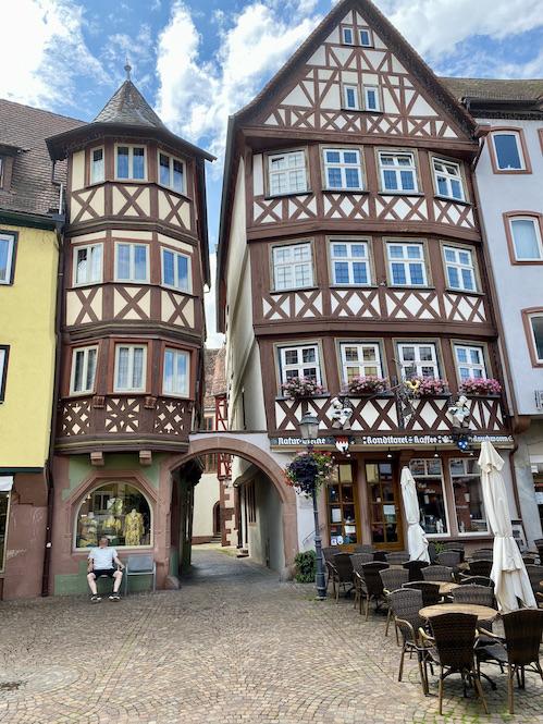 Wertheim am Main Historischer Marktplatz Historische Altstadt Cafe Hahn