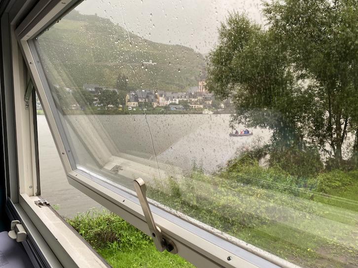 Regenwetter in Zell an der Mosel mit mole-on-tour