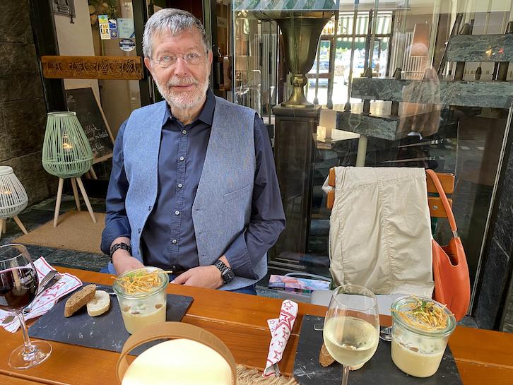 Zell an der Mosel Abendesssen Vorspeise im Hotel zum grünen Kranz